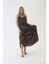 Angie Printed Maxi Dress (C4176)