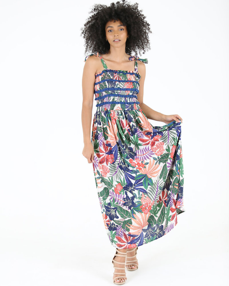 Angie Maxi Dress with Smocked Top (C4244)