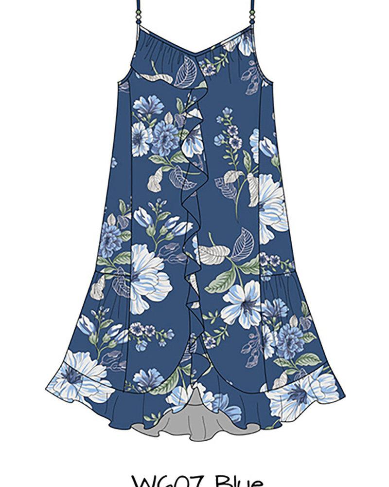 Angie Midi Length Ruffle Dress (F4F58)