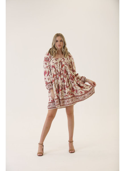 Angie Floral Printed Dress (C4019)