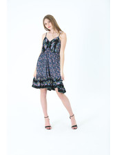 Angie Spaghetti Strap Dress with Lace Detail (C4301)