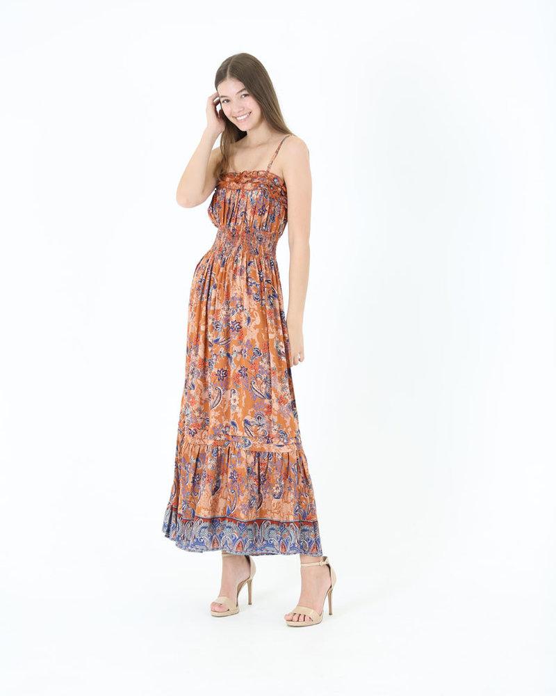 Angie Ruffle Maxi Dress (F4E84)