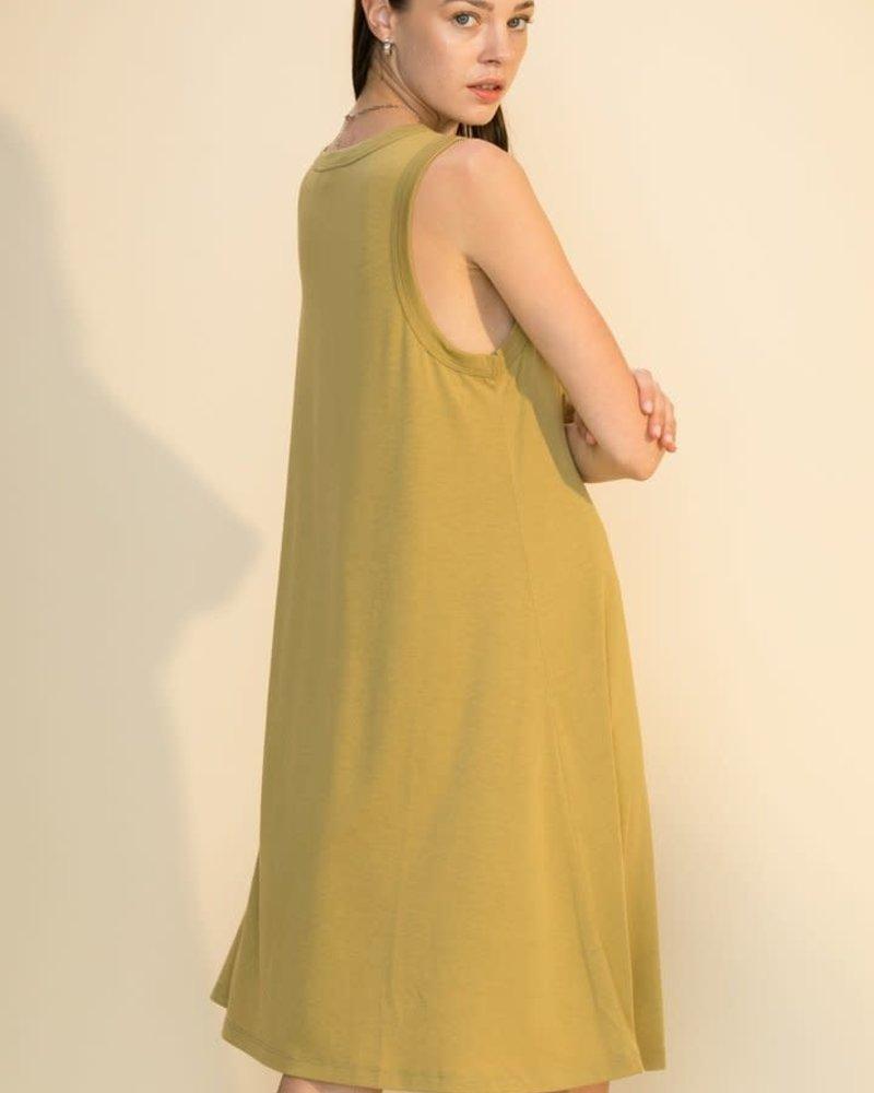 Double Zero Double Zero Sleeveless Midi Swing Dress (DZ21F061)