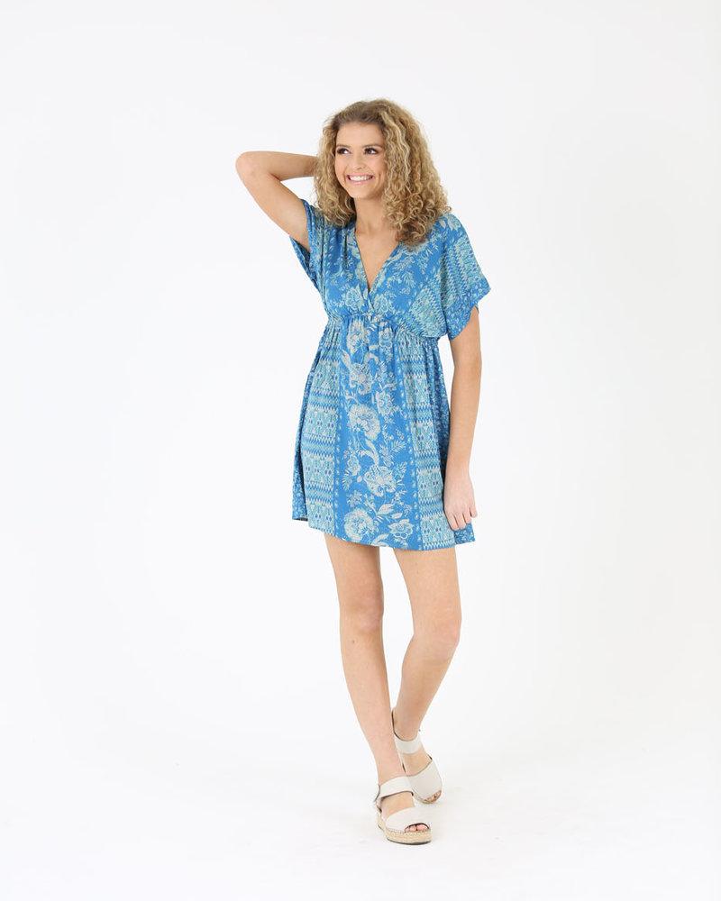 Angie Kimono Sleeve V Neck Dress (A2138)