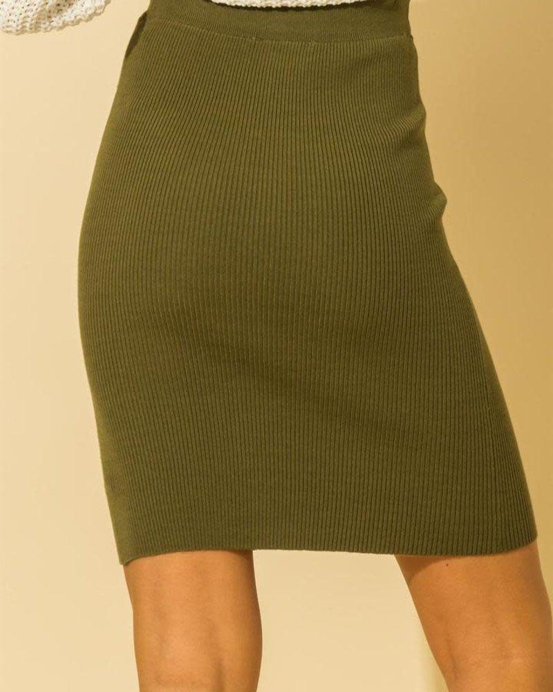 HYFVE Hyfve Rib Knit Mini Skirt (DZ21F450)