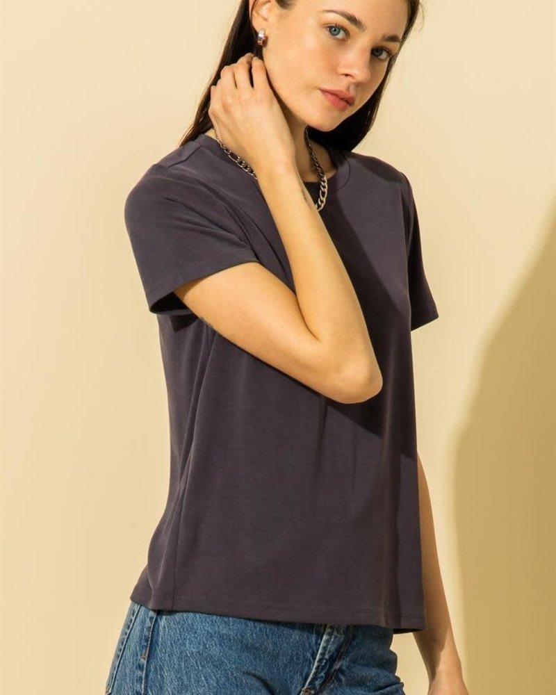 Double Zero Double Zero Knit Crewneck T-Shirt (DZ21G021)