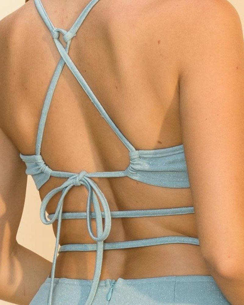 HYFVE Hyfve Glitter Knit Cami Backless Mini Dress (FS22A885)