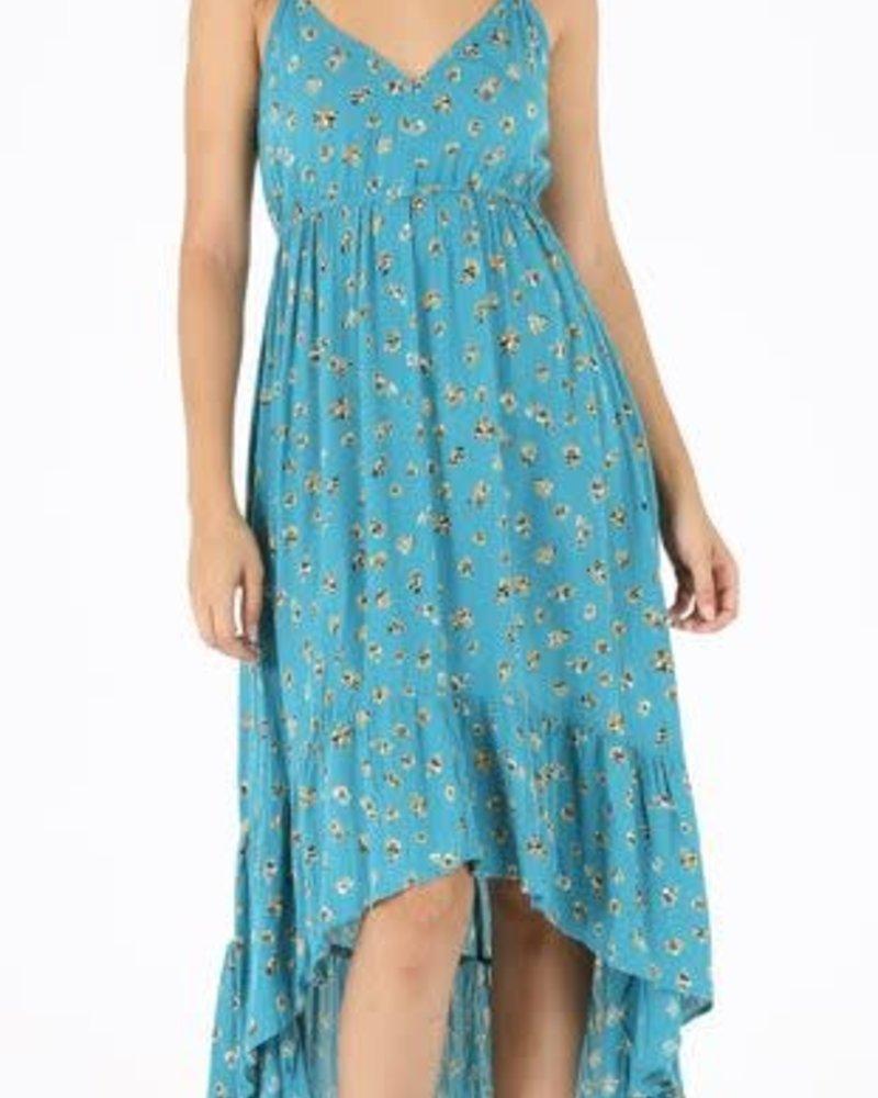 Angie Ruffle Hem Dress (F4D16)