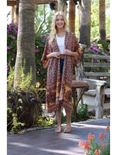 Angie Printed Kimono Duster (P2Y36)