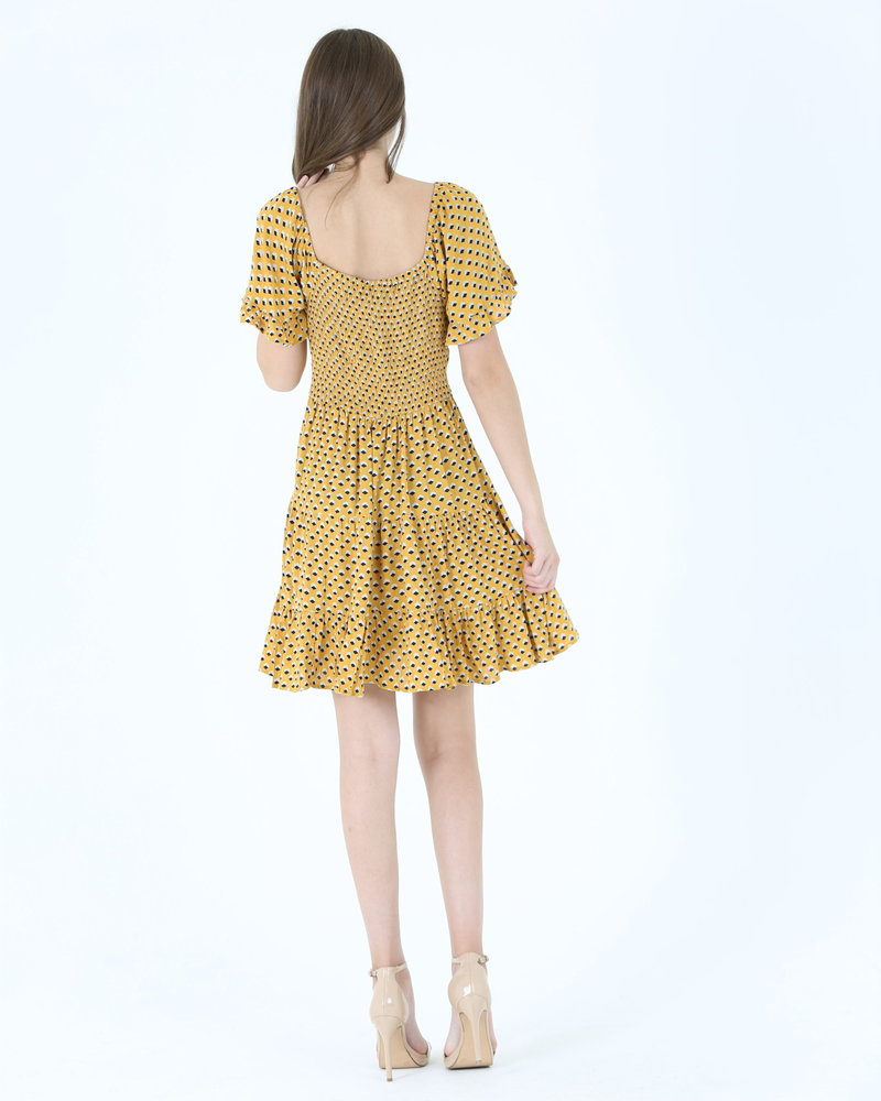 Angie Tiered Skirt SS Dress (C4495)