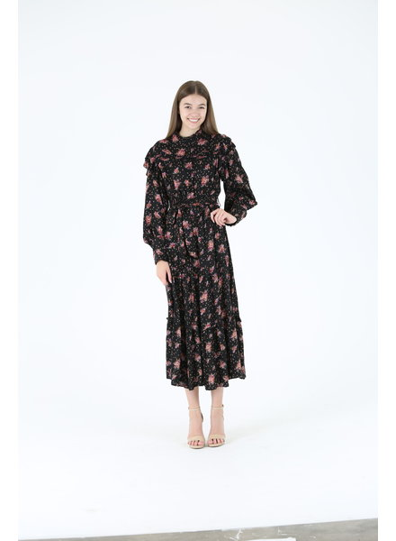 Angie Long Sleeve High Neck Dress (H4028)