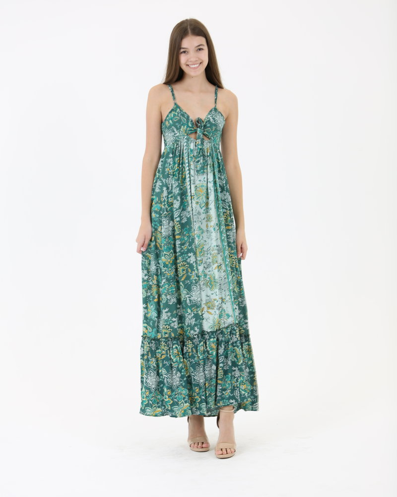 Angie Floral Maxi Tie-Top  (C4264)