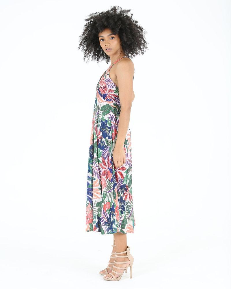 Angie Gathered Bodice Low Back Maxi Dress (F4E03)
