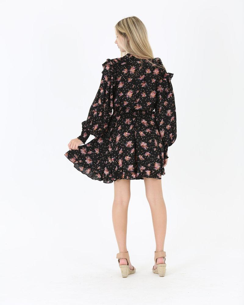 Angie Smocked Waist High Neck Dress (C4385)