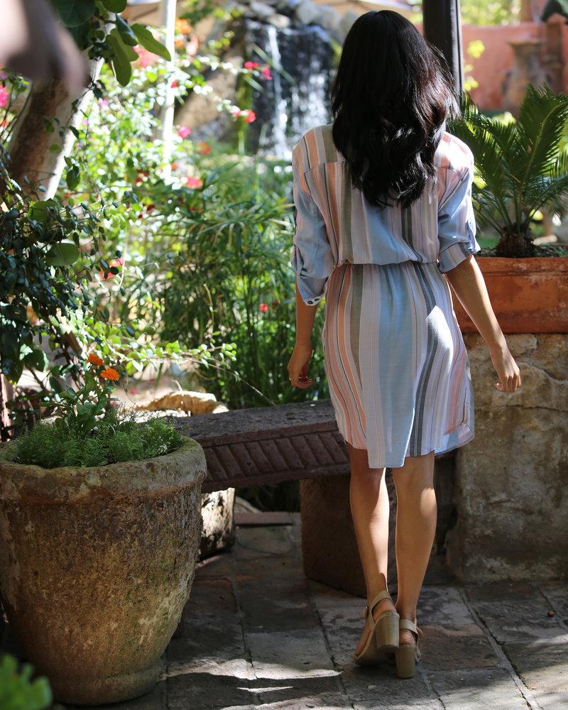Angie Printed Shirt Dress (F4098)