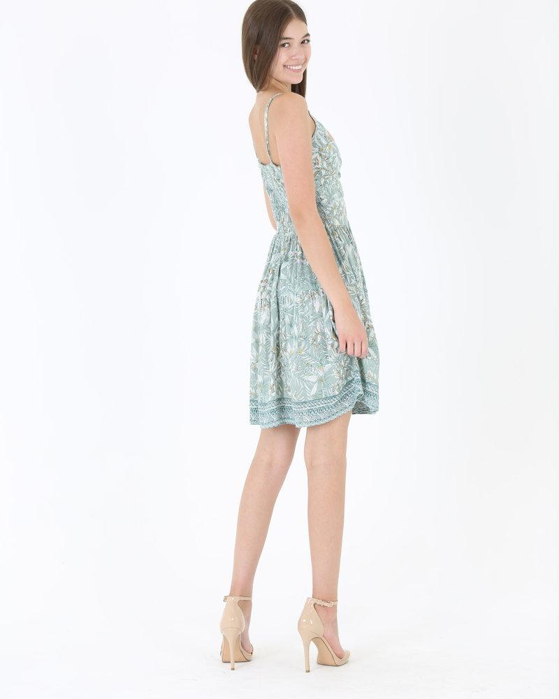 Angie Twist Front Keyhole Mini Dress (C4143)