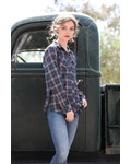 Angie Button Up Plaid Flannel (B2L29)