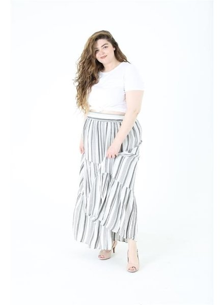 Angie Tired Maxi Skirt (B9711)