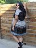 Angie Plus V Neck Tired Dress (F9F65)