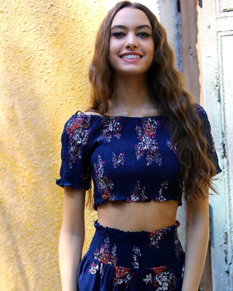 Angie Smocked Short Sleeve Crop Top (P2W39)