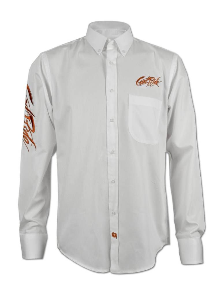 Men's White and Copper Show Shirt