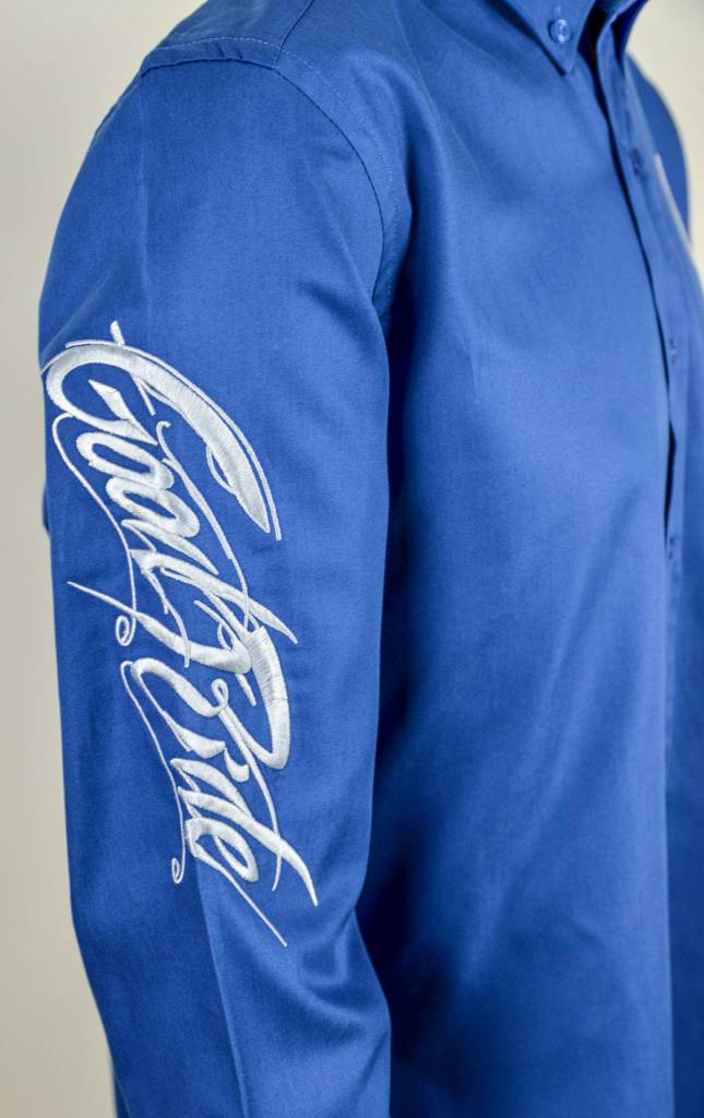 Men's ROYAL BLUE and WHITE Show Shirt
