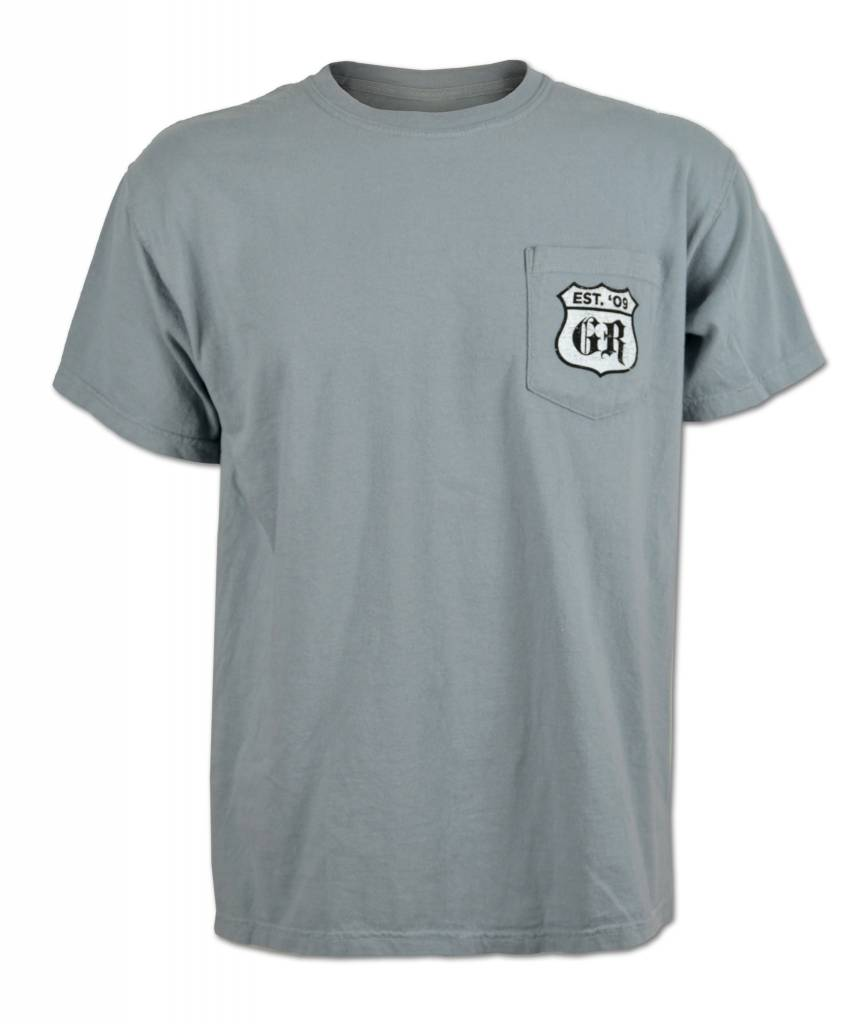 Men's Gray License Plate  T-shirt
