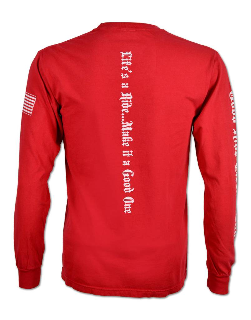 Red Long Sleeve T- Shirt