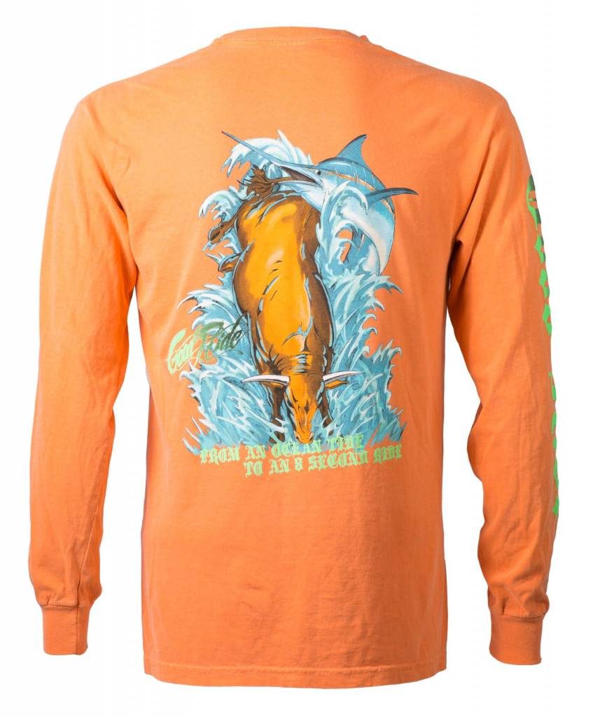Burnt Orange Bull Long Sleeve
