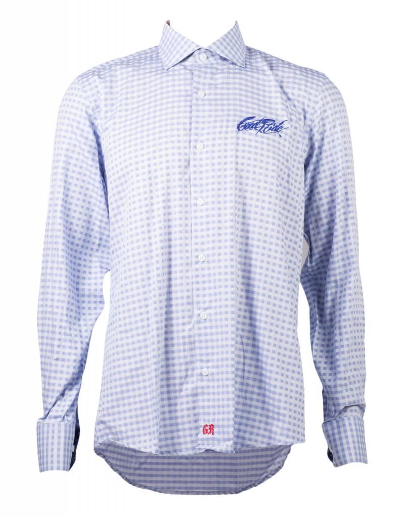 Blue Checkered Men's Show Shirt