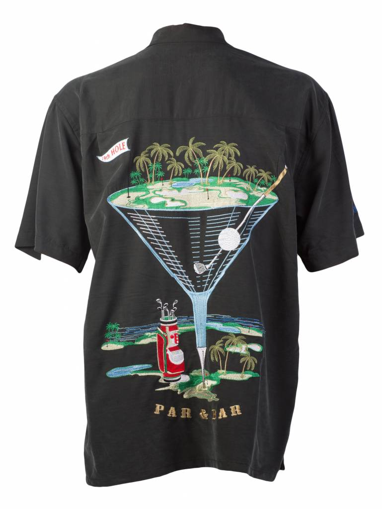 Black Golf Themed Resort Shirt