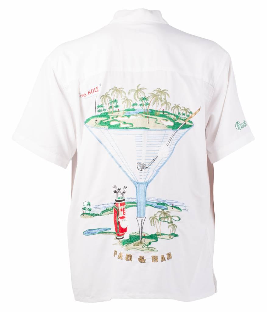White Golf Themed Resort Short