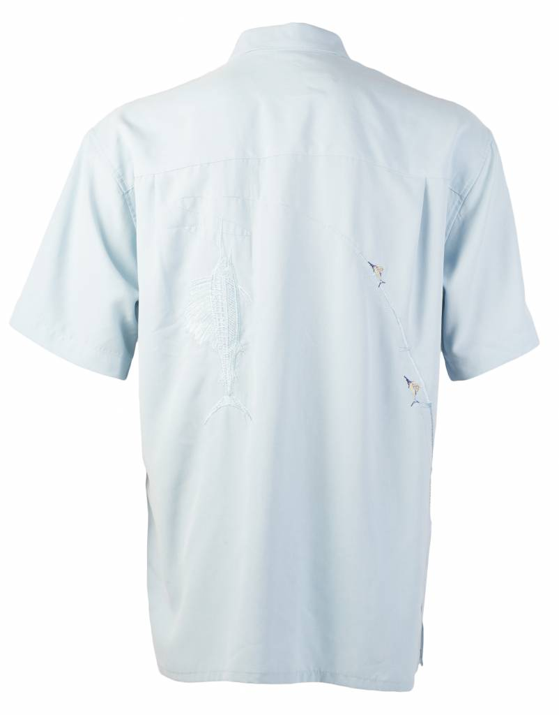 Light Blue Sailfish Themed Resort Shirt