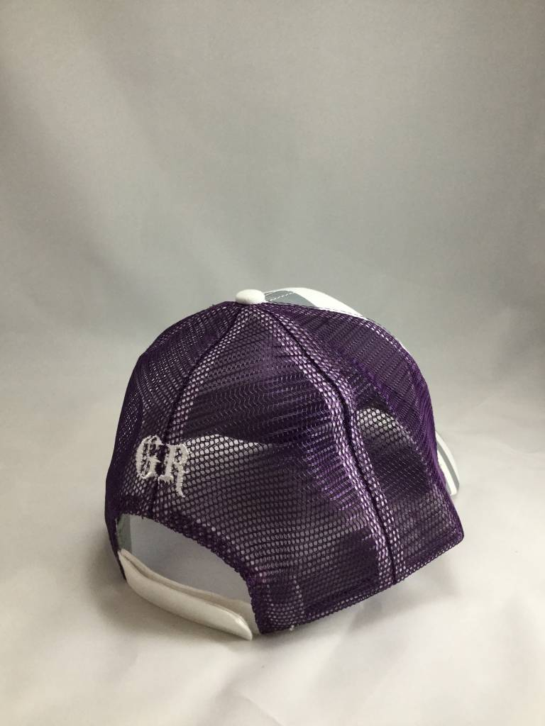Gray and Purple Women's Hat