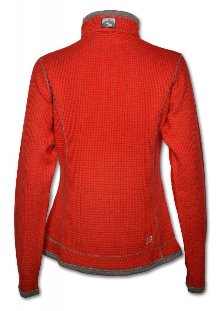 Scarlet Red Waffle Knit Jacket