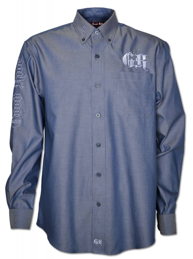 Blue and Silver Men's Show Shirt