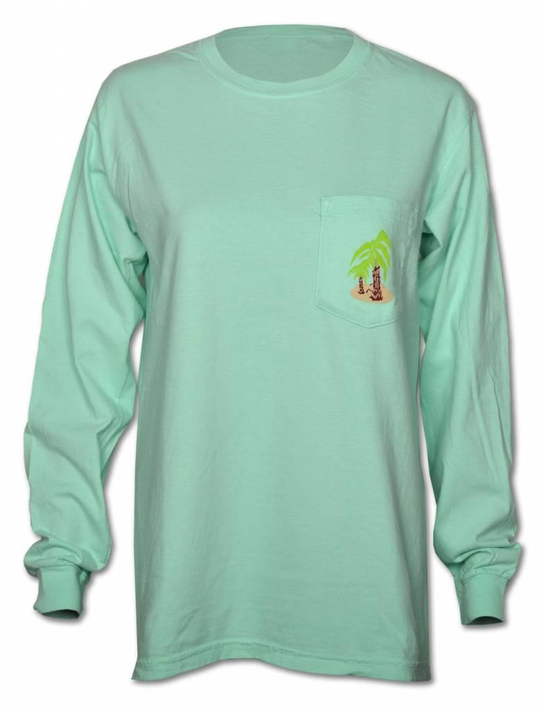 Norman Long Sleeve Teal T - Shirt