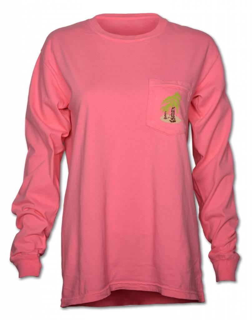 Norman Long Sleeve Pink T-Shirt