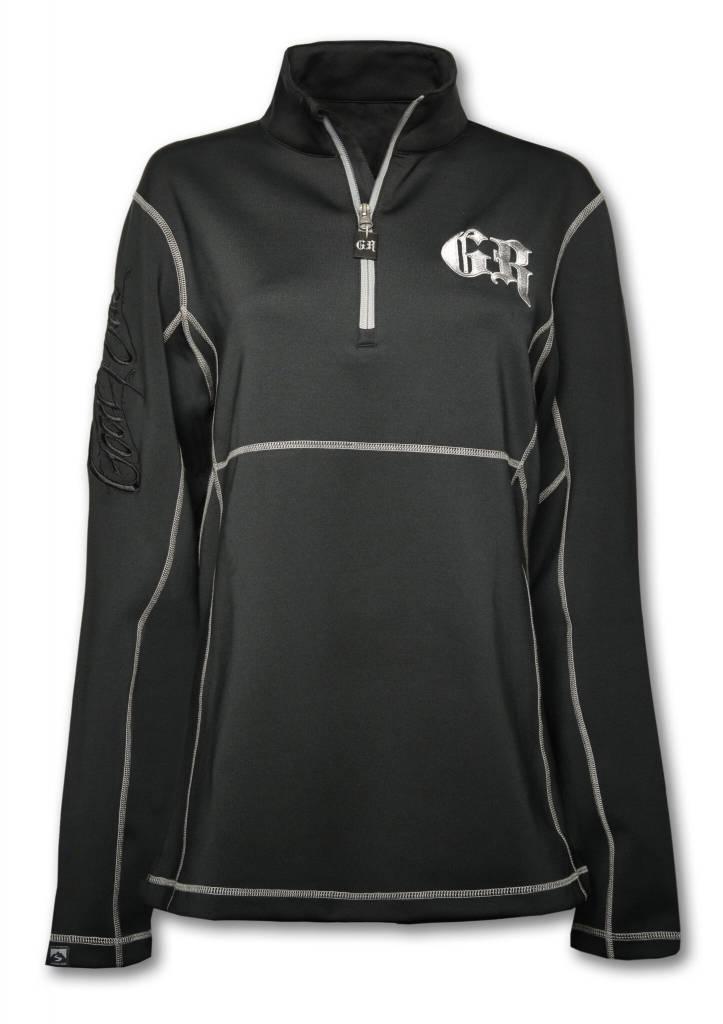 Half-Zip Black Runner's Jacket