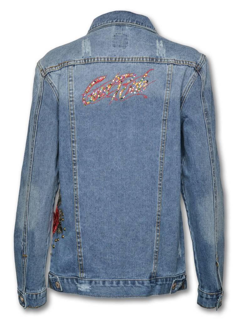 SWAROVSKI  CRYSTAL Denim Rose Jacket