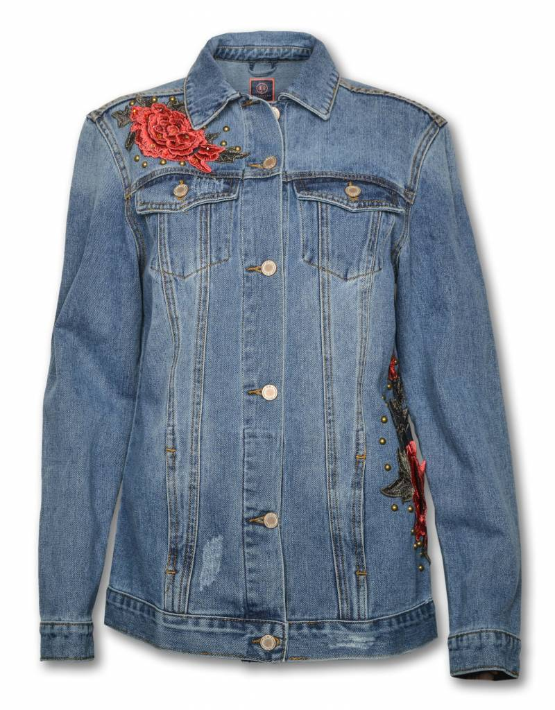 SWAROVSKI  CRYSTAL Denim Rose Jacket