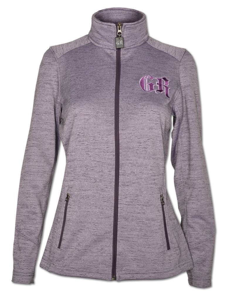 Women's Purple  Stripe Fleece Jacket