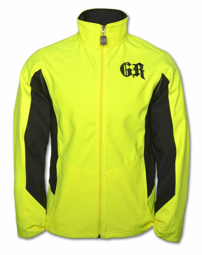 Men's Core Color Block Soft Shell Yellow and Black Jacket