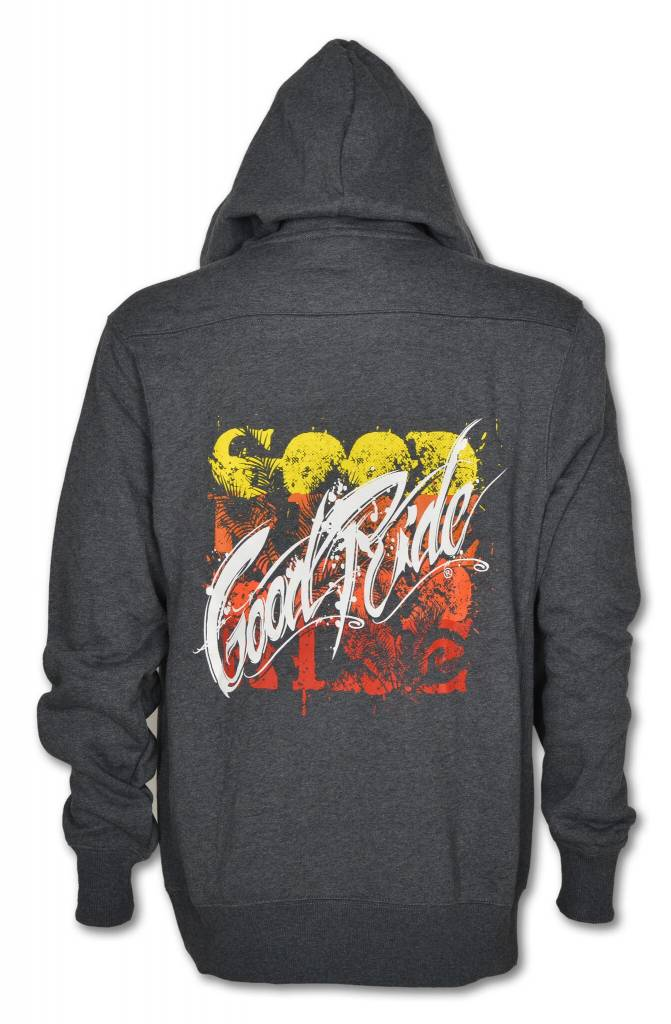 """Men's Gray """"hockey-Style"""" Sweetshirt with Hood and Orange Lace-up"""