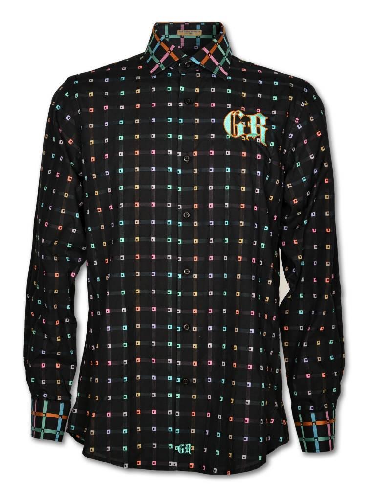 Multicolor Black Dress Shirt