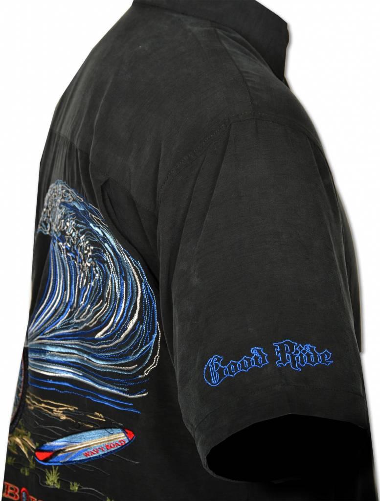 Black Motorcyle Resort Shirt