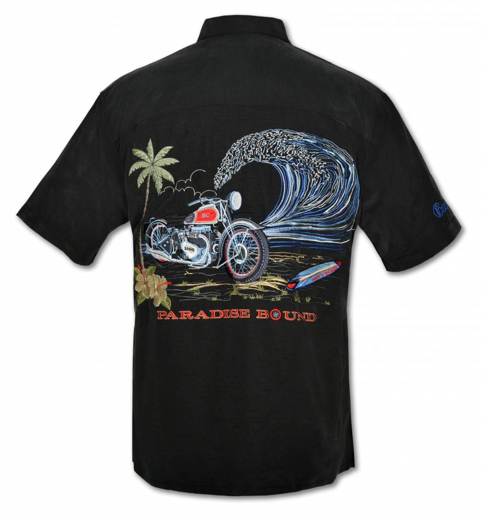 Black Motorcyle Resort Shirt