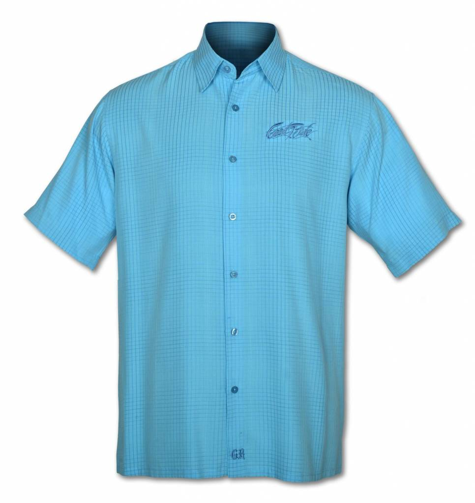 Men's Light Blue Button down Short Sleeve Shirt