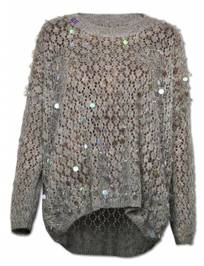 Gray Women's SEQUINS Sweater
