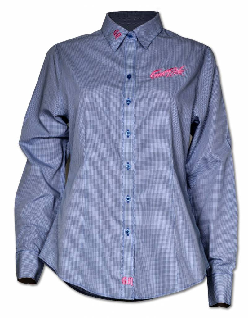 Women's Blue Crystal Show Shirt